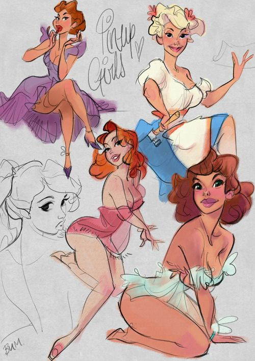 A hasty page of pretty pin-up pals…..
