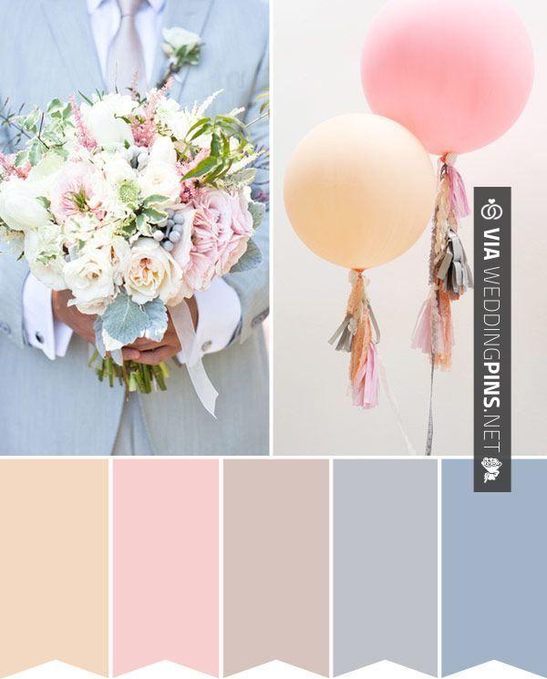 Wedding Colour Schemes 2015 – Wedding Colour Palette: Pastel Perfection | http://onefabday.com