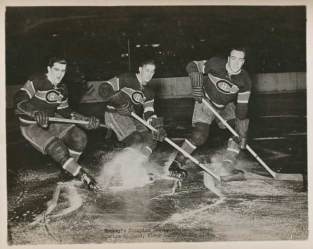 "The ""Punch Line"" - Maurice Richard, Elmer lach and Toe Blake"