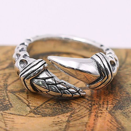 Men's Sterling Silver Eagle Claw Wrap Ring