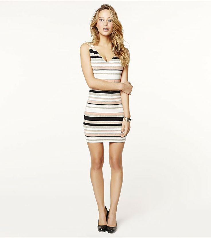 The perfect striped tank dress for dressing up or dressing down!