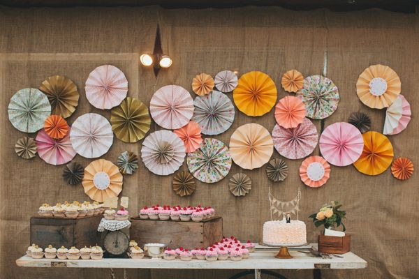 pinwheel cake tables