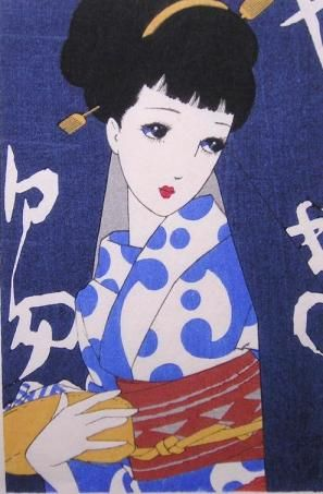 Junichi Nakahara (1913-1988) was a prominent Japanese artist well-known for his illustrations, fashion designs, interior decorating and doll making. He started out as a dress designer and fashion illustrator