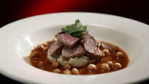 Lamb Fillet with Smoky Eggplant and Spicy Masala Sauce