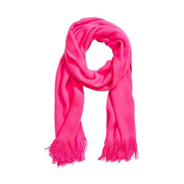 H&M Schal 2,99 ($9.99) ❤ liked on Polyvore featuring fringe scarves, short scarves and fringe shawl