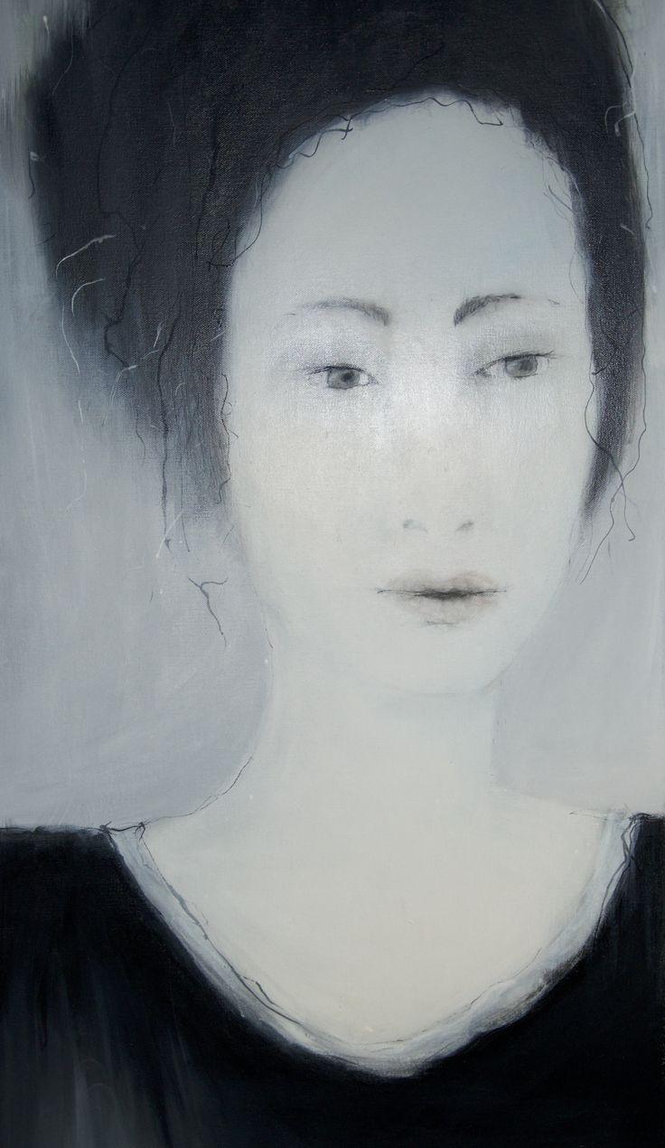 Mette Nissen Johansen Miss Grey 50x100 cm