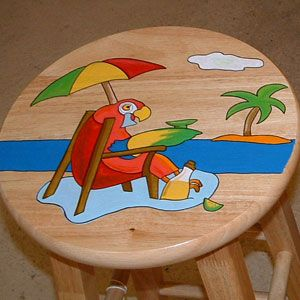 Hand Painted Bar Stool Google Search Painted Furniture