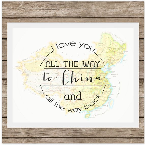 I Love You to CHINA and Back Adoption by echoesofmercy on Etsy, $17.00
