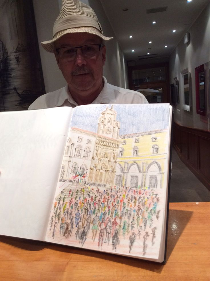 Paintings of Arezzo, tourists with passion