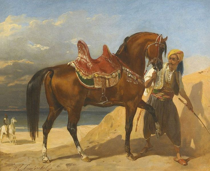 Bir Atçı ve Arap Atları (Arap Atlı Bey), 1860'lar lR9K7jG3Pd https: // t. ko / lR9K7jG3Pd   http://www.muhteva.com