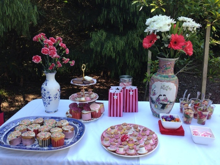 Little Girls birthday party #birthdayparties #teaparties 3 Tier stands from $39  http://stores.ebay.com.au/How-to-Cakes/_i.html?_nkw=stand=Search&_sid=224780296