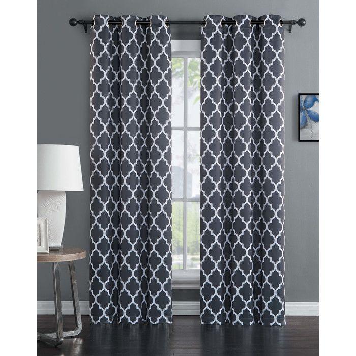 Brockham Room Darkening Thermal Grommet Curtain Panels
