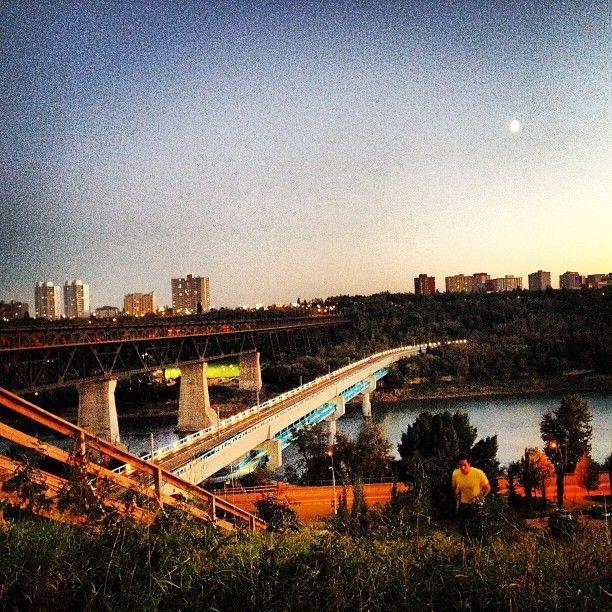 Beloved River Valley in Edmonton, Alberta, Canada #yeg #summer #sunset