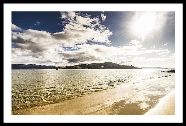 Beach Framed Print featuring the photograph Sun Drenched Beach by Jorgo Photography - Wall Art Gallery