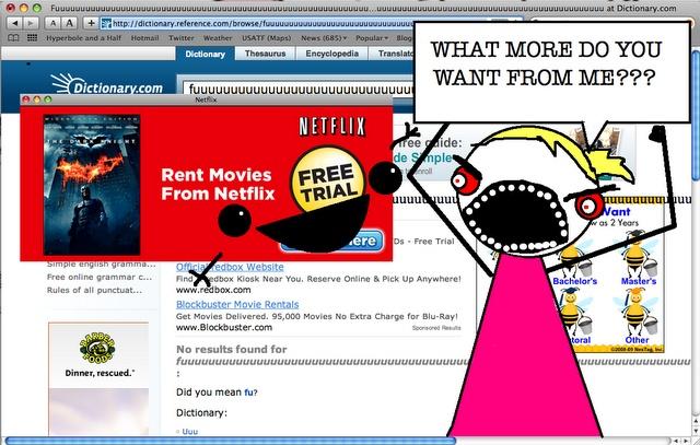 i already have netflix!! Hyperbole and a half, Netflix