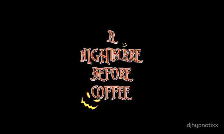 NIGHTMARE BEFORE CHRISTMAS FONT Coffee