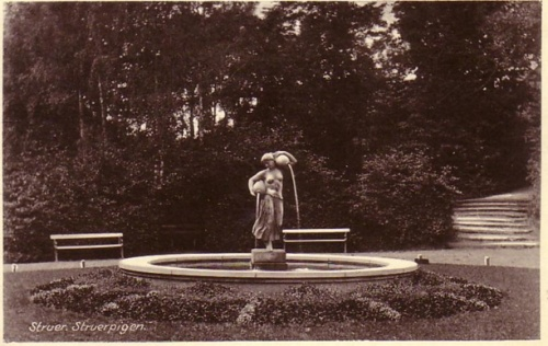 The original position of the statue.