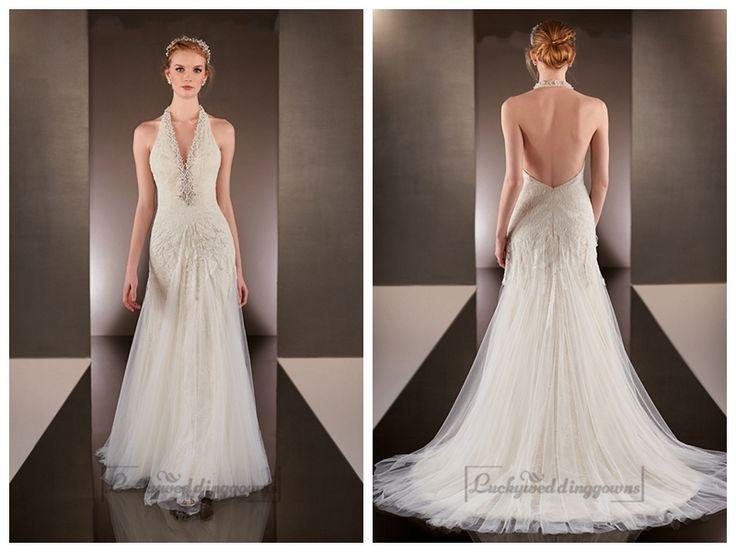 Beaded Helter V-neck Sheath Wedding Dresses with Low Open Back http://www.ckdress.com/beaded-helter-vneck-sheath-wedding-dresses-with-  low-open-back-p-2031.html  #wedding #dresses #dress #lightindream #lightindreaming #wed #clothing   #gown #weddingdresses #dressesonline #dressonline #bride