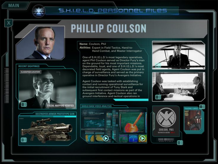 Agent Phil Coulson http://marvel.com/news/movies/2012/9/27/19455/download_marvels_the_avengers_second_screen_app