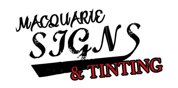 Logo design for Macquarie Signs & Tinting, Port Macquarie