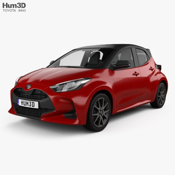 Toyota Yaris Hybrid 2020 Fully Editable And Reusable 3d Model Of A Car 3d 3dmodel 3ddesign 2019 2022 5 Door Battery Car Compa Yaris Toyota Subcompact
