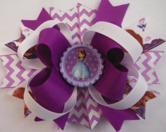 Elsa Inspired Bow Frozen Bow Elsa Party by ThePurpleLadybug1