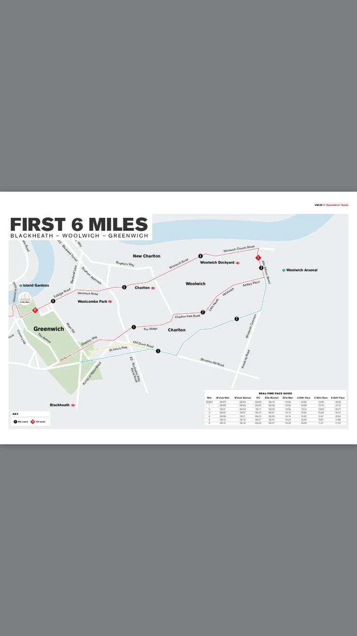 London Marathon 2017 Course Map 1