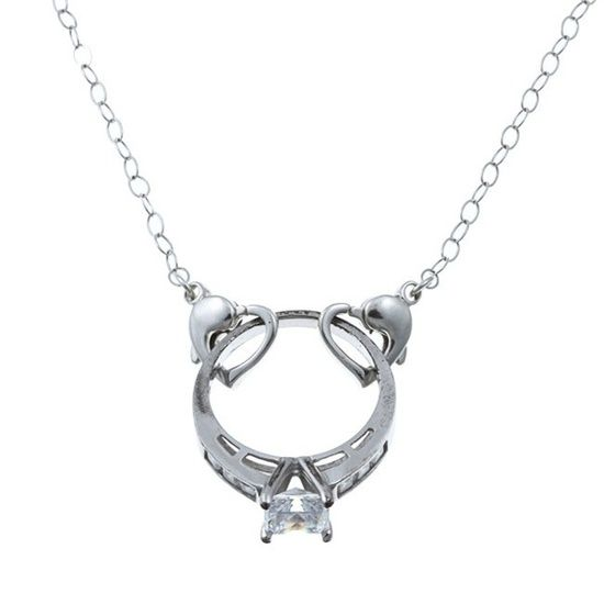 A necklace that allows you to wear your ring when you cant wear it on your finger. This could be easily made!