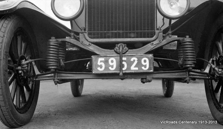 Roughometer Ford Motor Car 1931 - Car used to test the road surfaces in Victoria. VicRoads Centenary 1931-2013.
