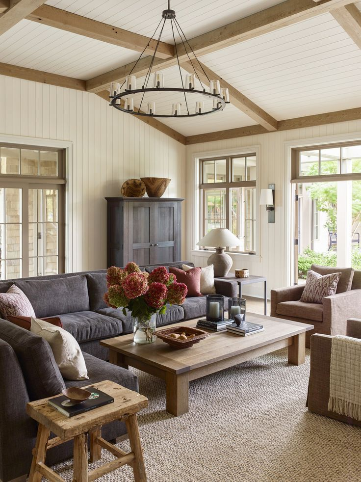 House Tour Tradition Meets Pacific Northwest In This Island Home Traditional Style Living Room Living Room Decor Traditional Costal Living Room