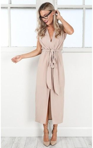 Eye Of The Storm maxi dress in beige