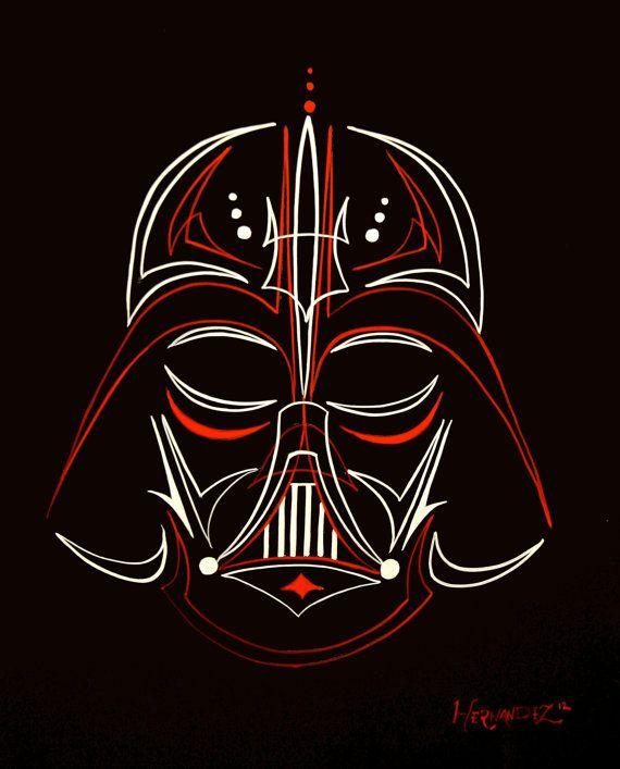 Pinstripe Darth Vader. $60.00, via Etsy.