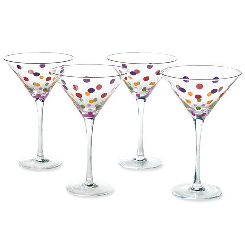 Dots Martini Glasses - The Pampered Chef®  only $16 on my outlet!    www.pamperedchef.biz/hollyshappykitchen