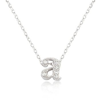 Micro Pave Initial Pendant