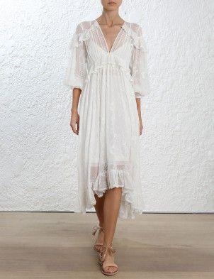 Zimmerman Lovelorn Cape Shoulder Dress