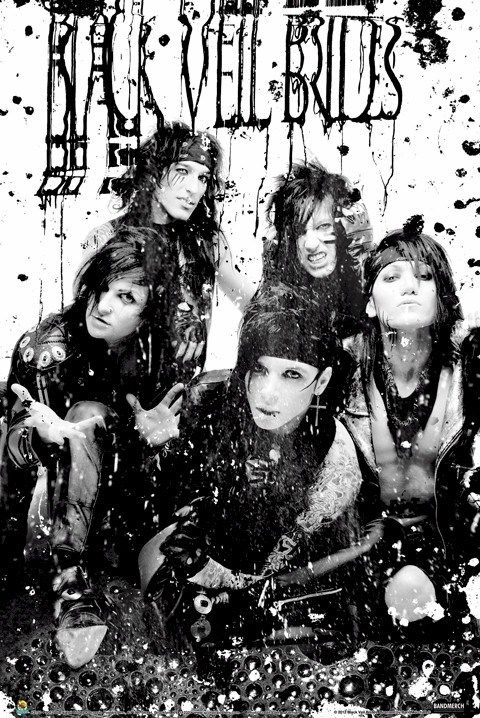 black veil brides posters | home band merch black veil brides black veil brides in the end poster