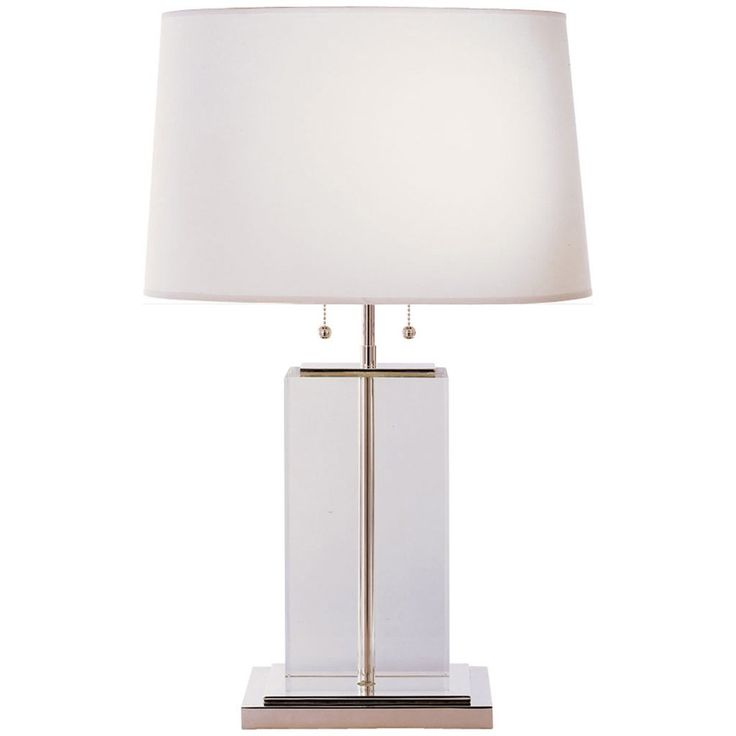 visual comfort lighting thomas obrien block 2 lights table lamp