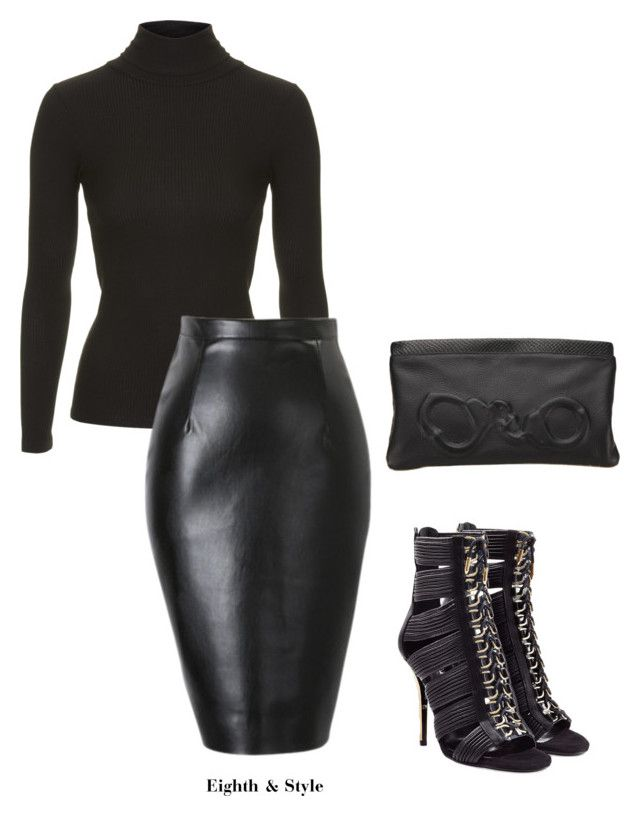 """Untitled #314"" by eighthandstyle ❤ liked on Polyvore featuring Topshop, Balmain and Vlieger & Vandam"