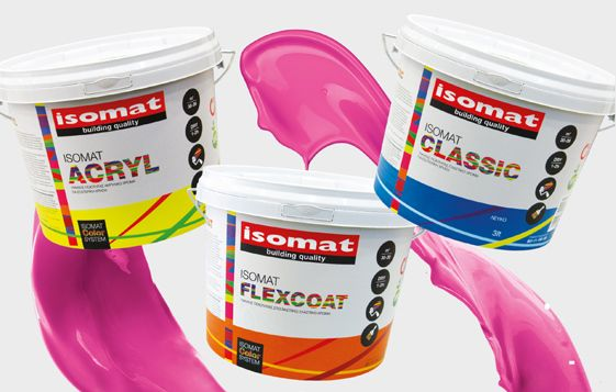 Trendy color combinations by ISOMAT.