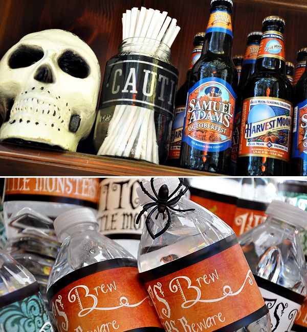 #halloween party: Holiday, Halloween Parties, Halloween Fall Things, Bar Ideas, Fall Halloween Thanksgiving, Party, Fall Halloween Themed