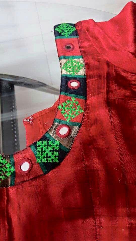 Super super Kutch and mirrors pattern blouse