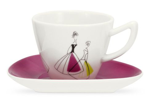 Fifi by Sanderson for Portmeirion Espresso cup and saucer