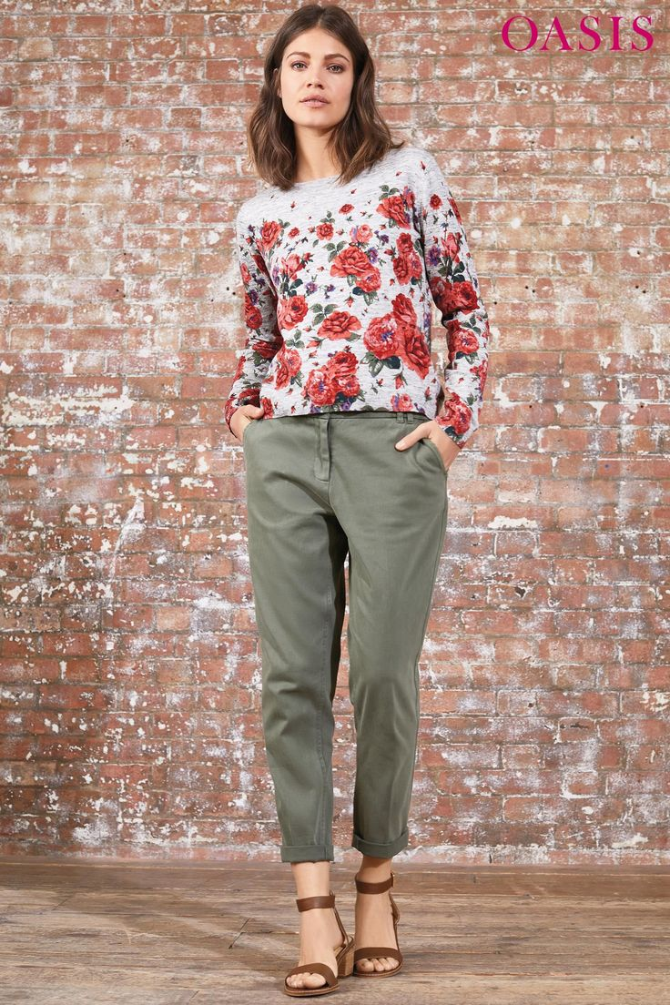Buy Oasis Khaki Luxe Utility Trouser from the Next UK online shop