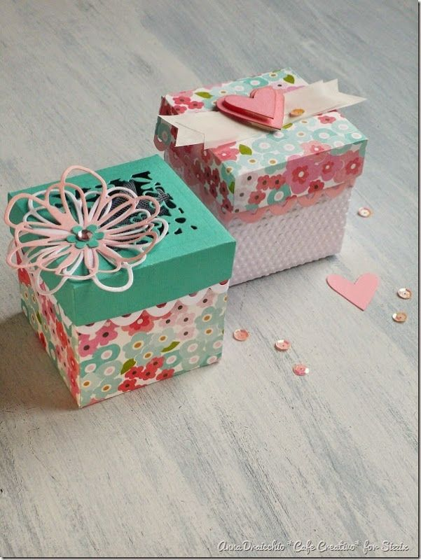 cafe creativo - sizzix big shot plus starter kit - favor box - scatolina bomboniera (1)