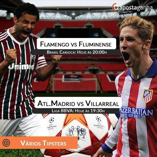 Um dos maiores derbys do Brasil o Fla-Flu ocorre hoje. Destaque também para o Atlético de Madrid que defronta o Villarreal. Confere os prognósticos:  http://www.apostaganha.com/2016/02/19/prognostico-apostas-fluminense-vs-flamengo-carioca-12/  http://www.apostaganha.com/2016/02/20/prognostico-apostas-atletico-de-madrid-vs-villarreal-liga-bbva-74683/  http://www.apostaganha.com/2016/02/21/prognostico-apostas-atletico-de-madrid-vs-villarreal-liga-bbva-647839…