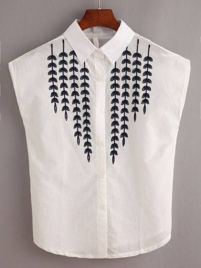 Willow Branch Embroidered Blouse