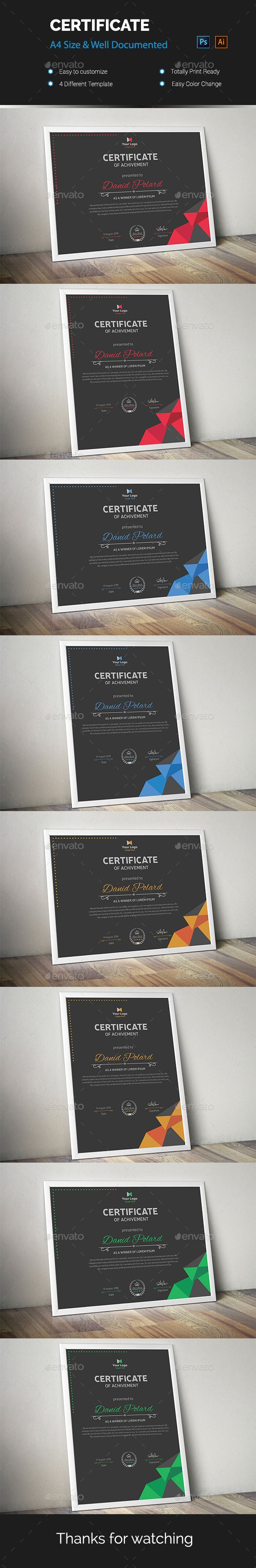 Certificate #print #modern  • Download here → https://graphicriver.net/item/certificate/20876763?ref=pxcr