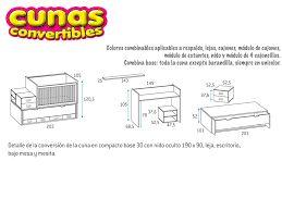 תוצאת תמונה עבור medidas colchon cuna convertible