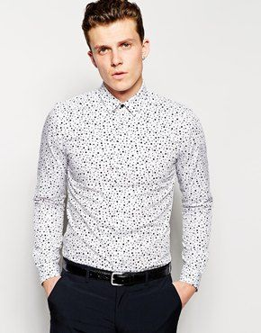 Welcome to my closet, Reiss Ink Print Polka Shirt