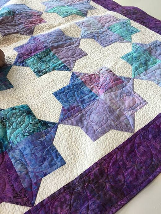 Double Square Star Quilt